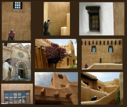 santa fe downtown collage