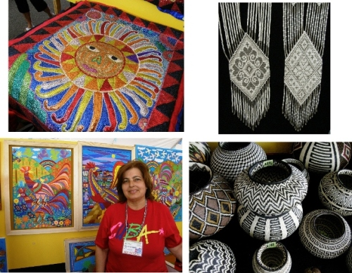 selection of art and craft santa fe folk art market