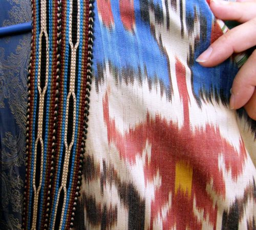 Ikat fabric at the Santa Fe International Folk Art Market