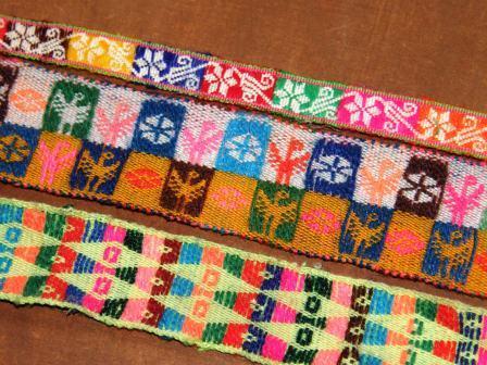 Bolivian hatbands