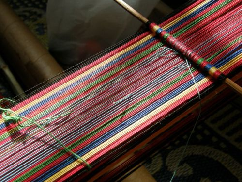 coul rod on Montagnard loom