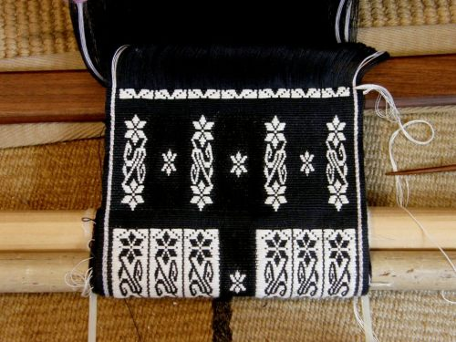 weft inlay black panel