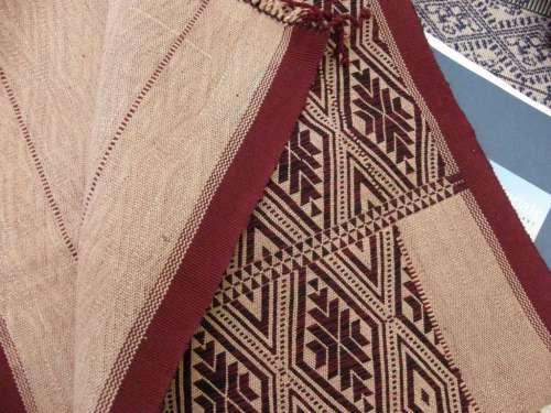 single faced supplementary weft patterning myanmar