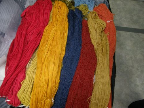 naturally dyed yarn for finger weaving
