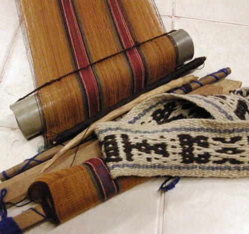 Peruvian woven backstrap