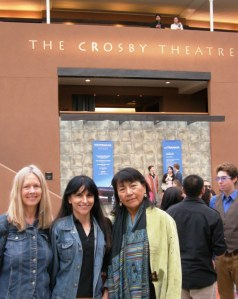 Jennifer Moore, DY Begay and I in Santa Fe in July