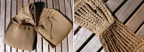 sprang and woven saddlebag