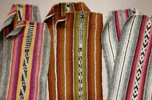 Four-selvedge bands woven by Bolivian teenagers-in-training.