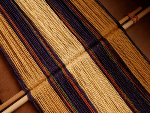 wool warp backstrap weaving