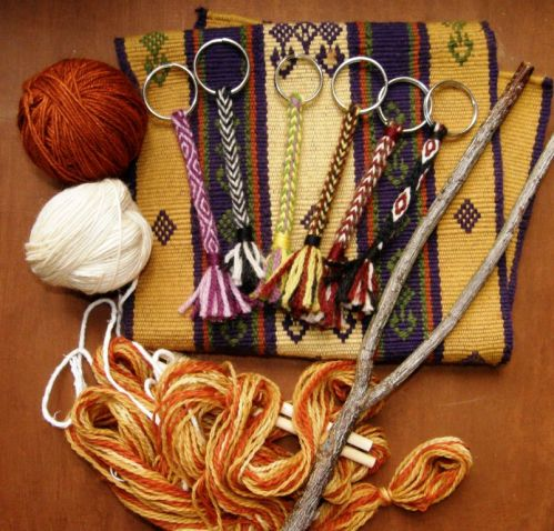 wool work backstrap weaving