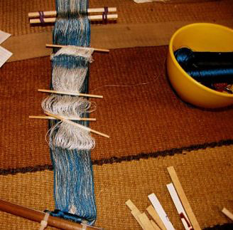 four heddle double weave