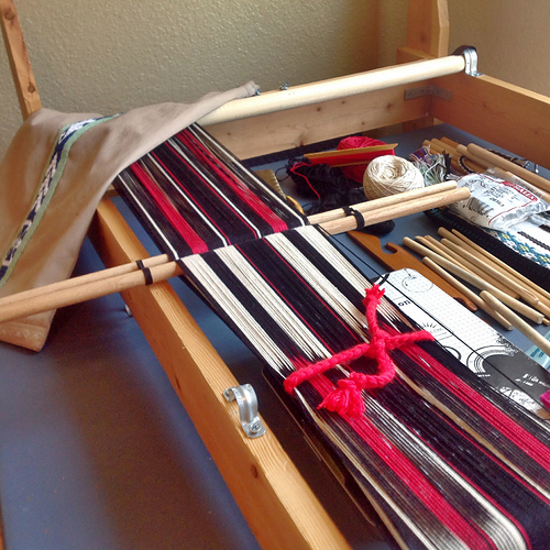 kim's warp for backstrap weaving