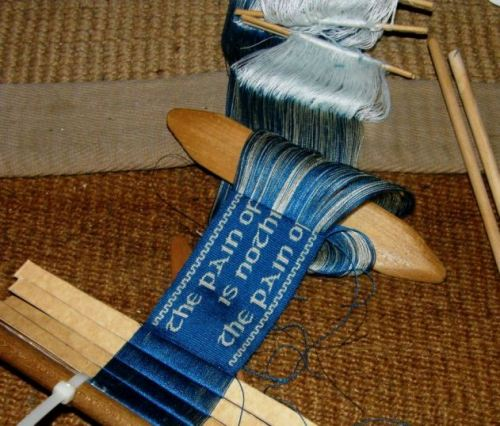 silk bookmark backstrap weaving