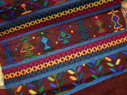 Guatemalan supplementary weft patterning