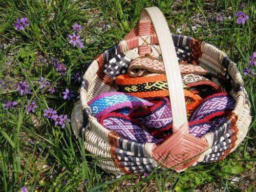 Jane Milner's basket and pebble weave bands.