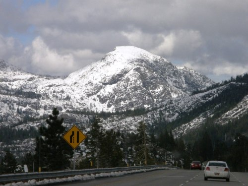 One of the beautiful peaks on the way to Truckee California.