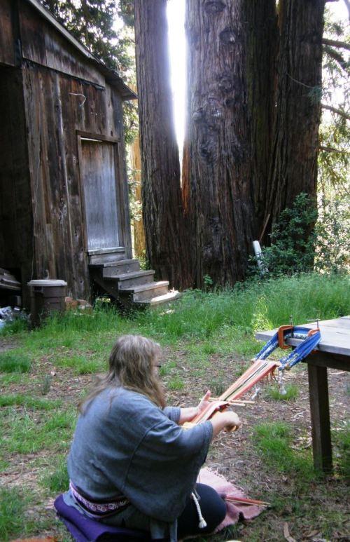 Yonat weaving amongst the Redwoods in my Santa Cruz class.