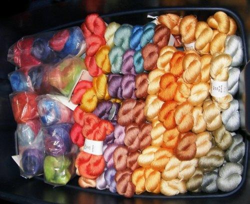 A box of luscious Redfish Dueworks silk.