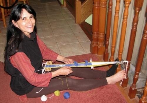 barefoot backstrap weaving