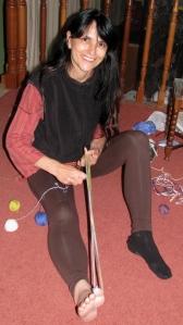 barefoot warping for backstrap weaving