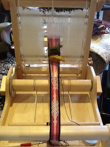 gilmore wave loom set up for andean pebble weave