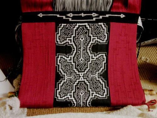 finished weft twining on backstrap loom