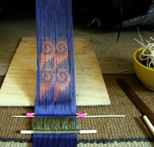 ikat after dyeing