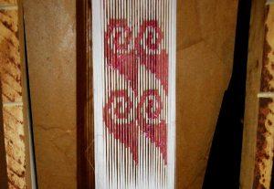 ikat sample for backstrap weaving