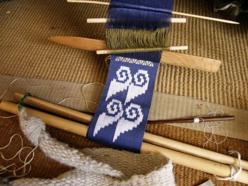ikat motifs with supplementary weft pattern