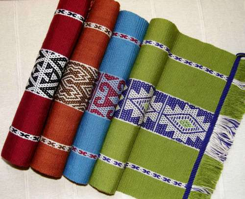 backstrap weaving placemats simple warp floats