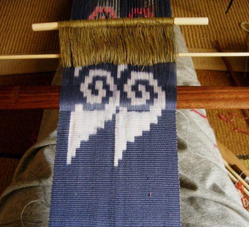 weaving frst ikat motif