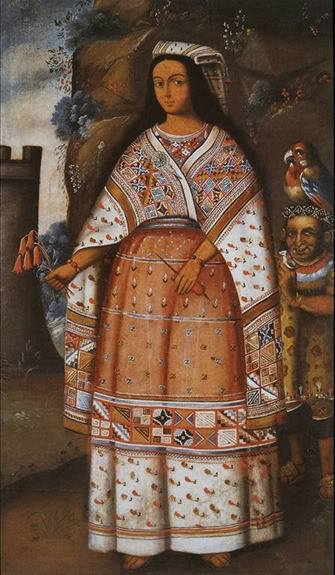 Image of a late 18th century painting from the Museo Inka in Cusco provided by CTTC.