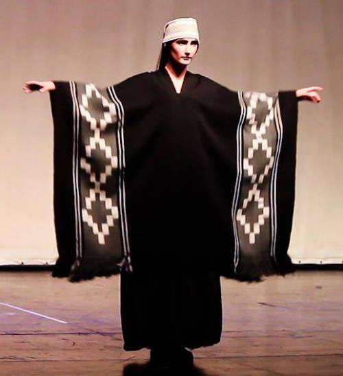 Photo used with the permission of the Ministerio de Cultura de la Nación Argentina. The ikat poncho was woven by Guillermina Cabral.