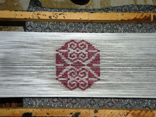 ikat motif backstrap weaving