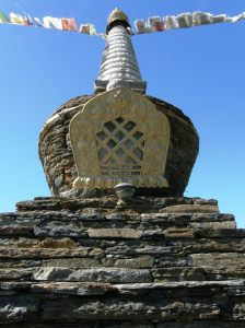 Alittle piece of Tibet in western Massachusetts. Liz's landlaord Sonam is a master stone mason.