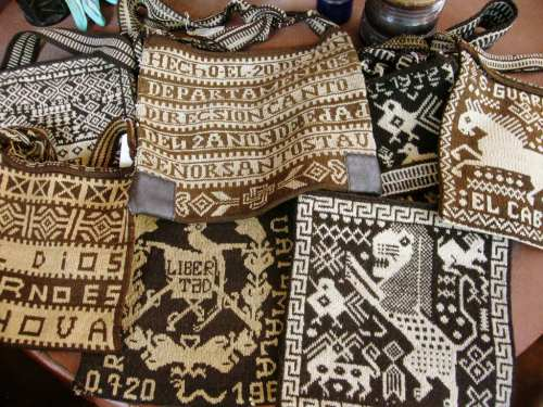 knitted bags Guatemala