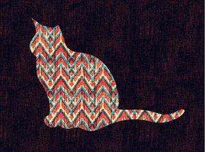 Ikat Cat by Budi Satria Kwan fineartamerica.com