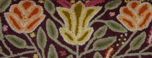close up of Ayacucho embroidery