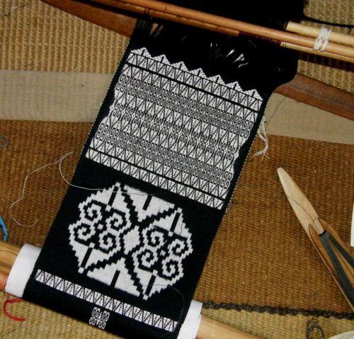 ikat and brocade backstrap weaving