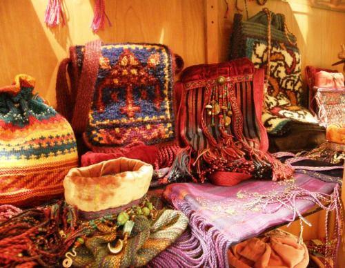 woven bags by Sara Lamb