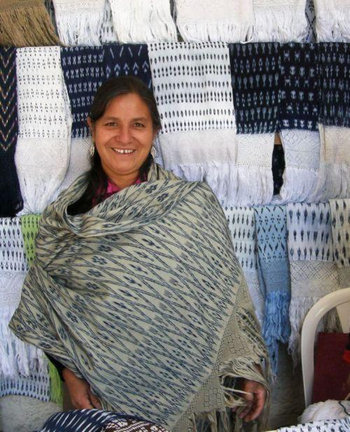 ikat shawls tacabamba