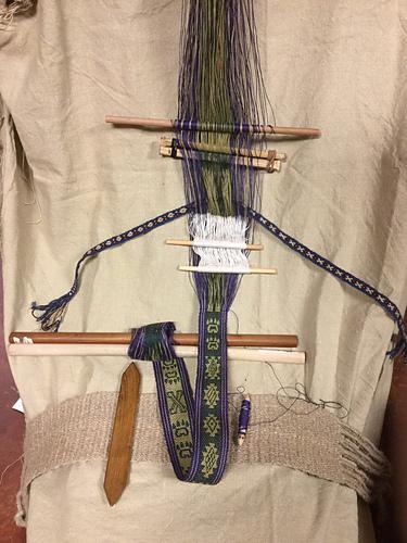 Janet finch ebble weave backstrap handspun hemp bamboo