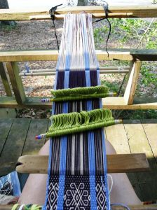 Andean Pebble Weave warp