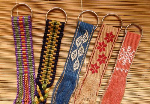 key fobs backstrap weaving