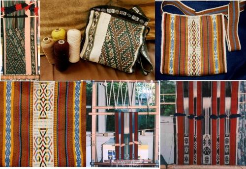 wool warp faced on navajo loom