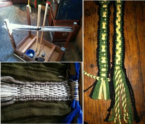 betsy warping handspun and cotton