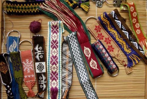 backstrap weaving key fobs