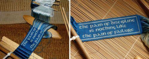 silk bookmark for ryan backstrap weaving