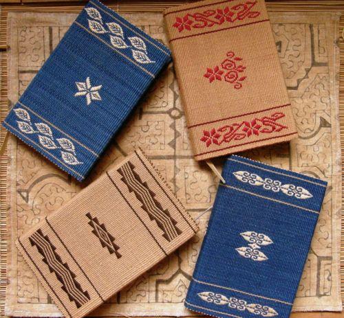 backstrap weaving woven journal covers