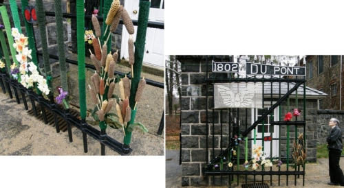 yarn bombing Hagley Museum
